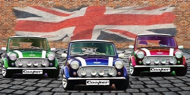 Picture of English mini cars