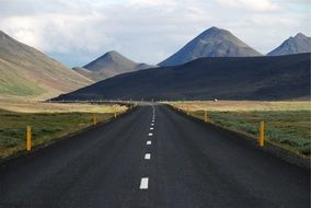 lonely road Iceland
