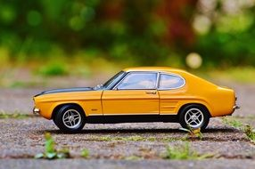 classic yellow ford model
