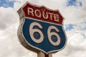 route 66 sign road