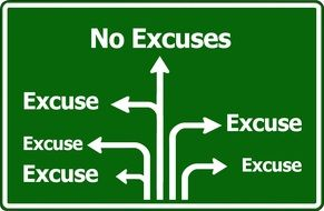 no excuses traffic sign