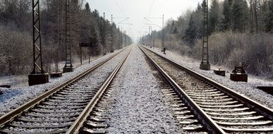 railway rails seemed gleise train