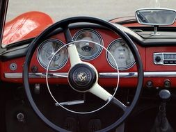 red alfa romeo giulietta car