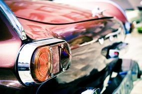chrome turn signals on a vintage car