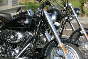 two motorcycles Harley Davidson