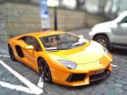 yellow lamborghini Brno racing car