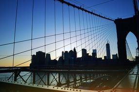Brooklyn bridge of New York