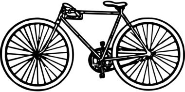 drawing of a bicycle