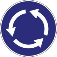 clipart of roundabout arrow symbol