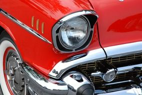 classic car red automobiles