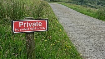 private sign warning privacy