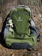 green backpack as comfortable luggage