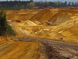 open pit mining sand raw materials