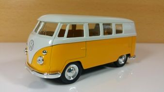 yellow Volkswagen bus as a toy