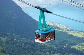 Cable car on Klewenalp