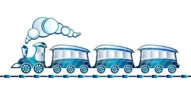 Blue toy train picture