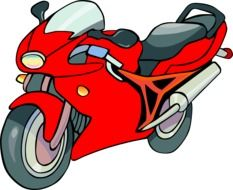 Colorful fast motorcycle clipart