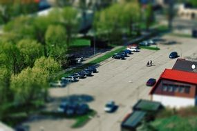 panorama of parking in kruszwica