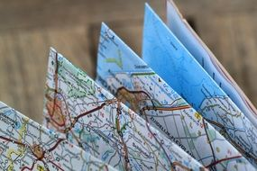 handsome folding map