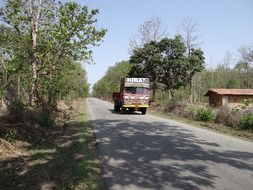 truck on the roads of India