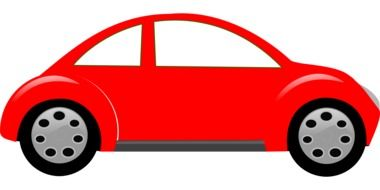 red automobile vector drawing