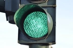 Traffic light with green signal