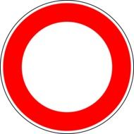 no vehicles traffic sign