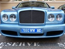 blue bentley front