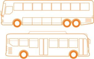 graphic image of two buses