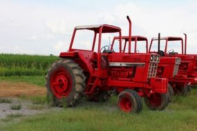 red new tractors