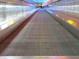 moving walkway in light