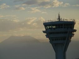 high control tower at the airport