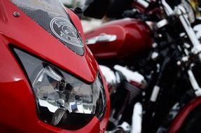 powerful red motorcycle