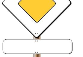 yellow traffic sign drawing
