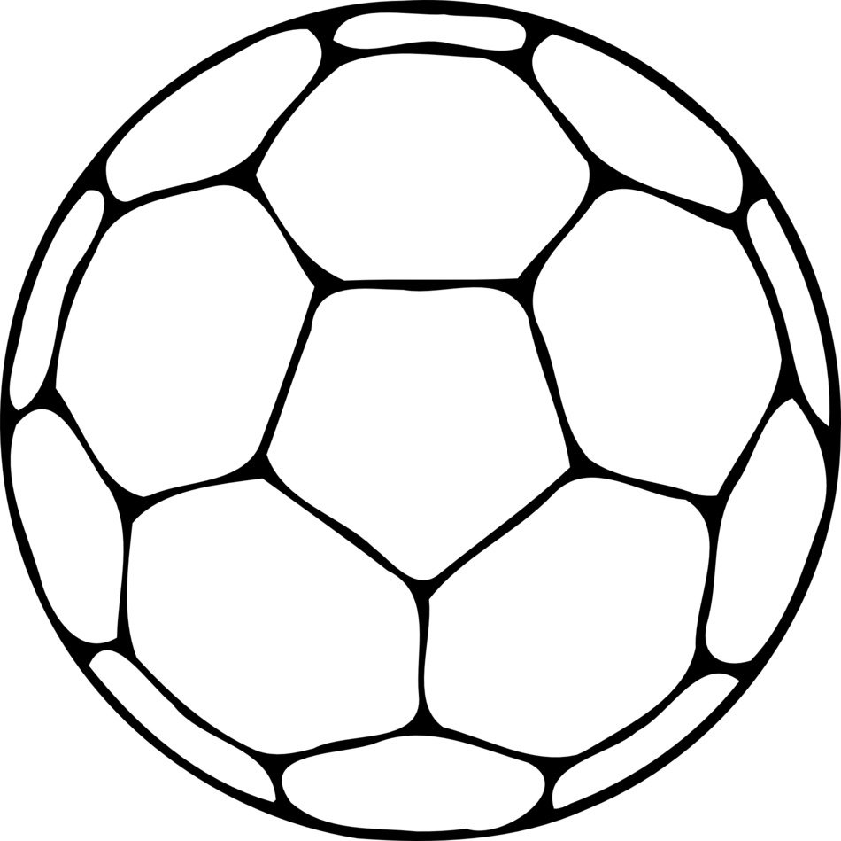 soccer ball schematic drawing