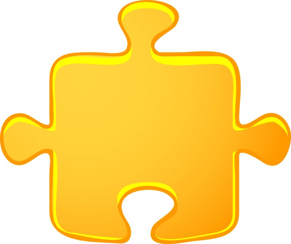 yellow puzzle piece playing