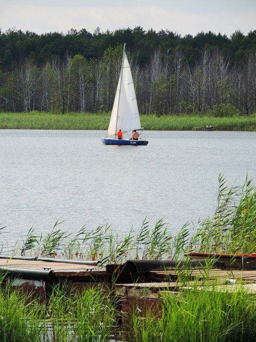 boat sailboat lake