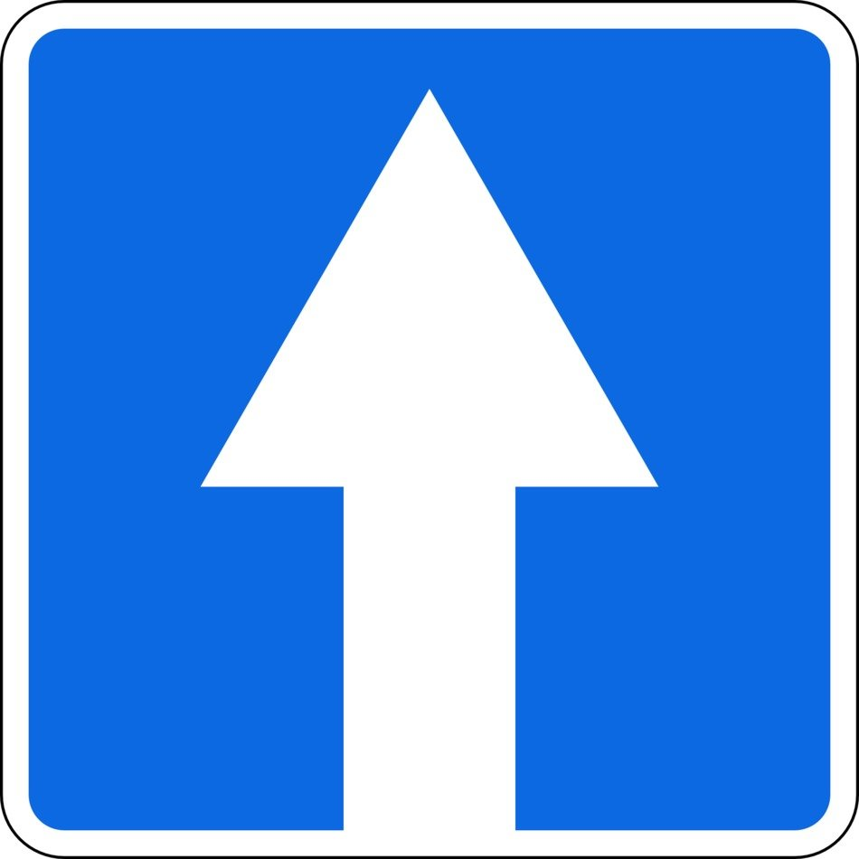 road sign one way