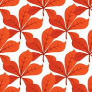 Colorful autumn leaf background seamless pattern N2