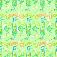 Summer cocktail pattern background