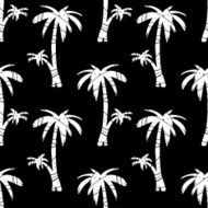 Seamless pattern palm trees N7