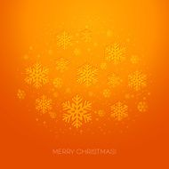 Merry Christmas greeting card with snowflakes N4
