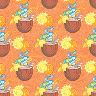 Summer cocktail pattern background N13