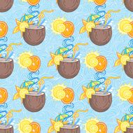 Summer cocktail pattern background N15