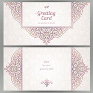 Vintage ornate cards in oriental style N46