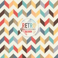 Textured and colorful retro chevron pattern background