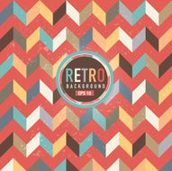Textured and colorful retro chevron pattern background N3