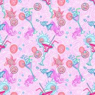 Summer cocktail pattern background N16
