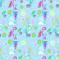 Summer cocktail pattern background N18
