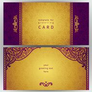 Vintage ornate cards in oriental style N48